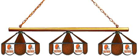 18-1120 Cleveland Browns Glass 3 Shade Lamp