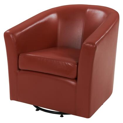 Hayden Collection 193012B-8141 Chair with 360 Degree Swivel  Stitching Details and Bonded Leather Upholstery in
