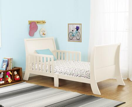 Louis Philippe Collection 416FW 53 inch  Toddler Bed with Two Side Safety Rails  Curved Headboard & Footboard and Solid Wood Construction in French