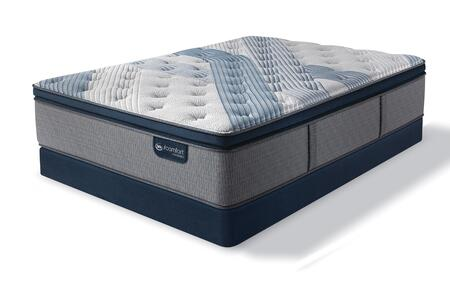 iComfort Hybrid 500821553-FMFLP Set with Blue Fusion 1000 Luxury Firm Pillow Top Full Mattress + Low Profile