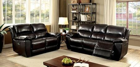 Keara Collection CM6984-PM-SL 2-Piece Living Room Set with Motion Sofa and Motion Loveseat in Dark