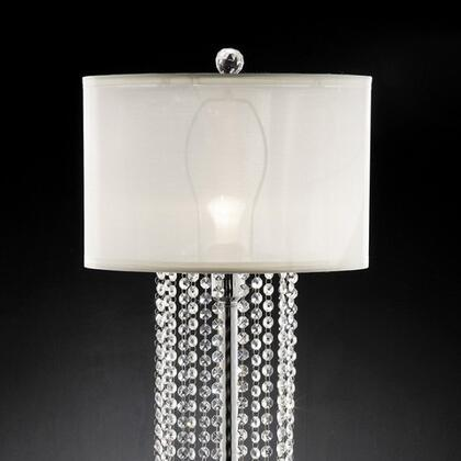 Claris L99142T Table Lamp with Chrome base  Ivory shade  Shade size: 13.75
