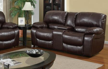 U8122-Burgundy 950-L Reclining Loveseat  Bonded Leather Upholstery  Plush Seats/Back/Arms with Reclining Mechanism  in