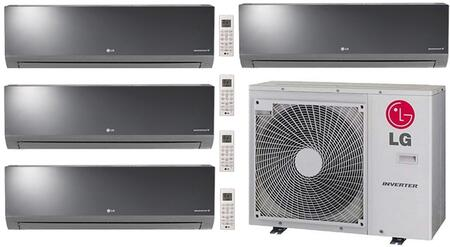 Quad Zone Mini Split Air Conditioner System with 39000 BTU Cooling Capacity  4 Indoor Units  and Outdoor 730417