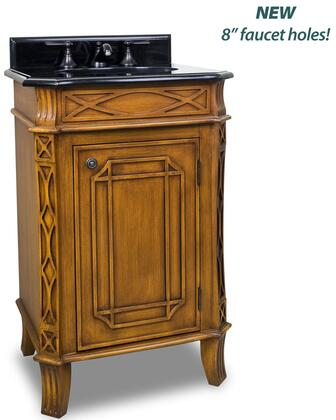 VAN047-T 24 inch  MDF Bathroom Vanity With Curved Lattice Like Carvings   2 CM Black Granite Top  Preassembled With 15 inch  x 12 inch  Bowl  2 CM x 4 inch  Tall Backsplash  In