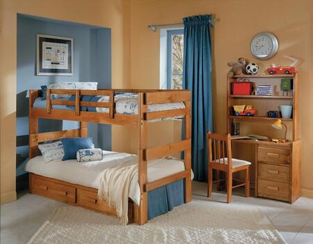 3626021-S Twin Over Twin Split Bunk Bed with Underbed Storage