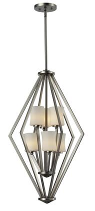 Elite 609-6-BN 17 inch  6 Light Foyer Pendant Contemporary  Urbanhave Steel Frame with Brushed Nickel finish in Matte