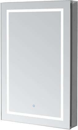 Signature Royale Plus RP2430L 24 inch  x 30 inch  Mirror Cabinet with Touch Control LED Lights  Electrical Outlet  Blum Hinges and 5mm Copper Free Mirror Glass: Left
