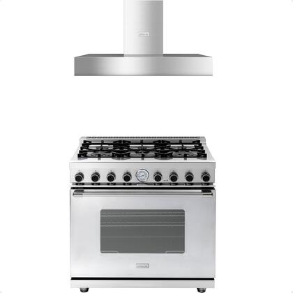 2-Piece Stainless Steel Kitchen Package with RN361GCSS 36