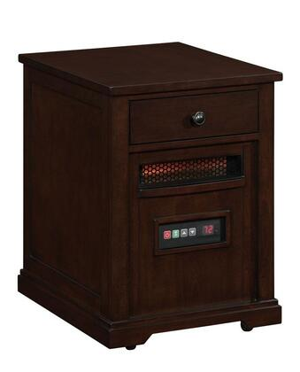 10HET6493-E444 Marbury Duraflame Heater End Table with 6.835 Cu. Ft. 6 Infrared Quartz Heating Elements 5200 BTU Infrared Heating Technology Solid