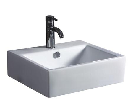 CGA2017-6W China Luxe Collection Geometrix 19.25 inch  x 17 inch  Rectangle Porcelain Lavatory Sink: