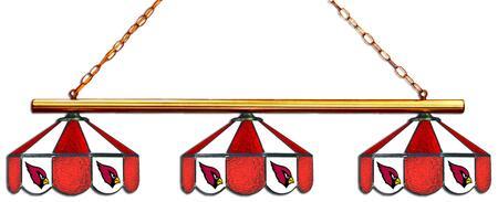 18-1129 Arizona Cardinals Glass 3 Shade Lamp