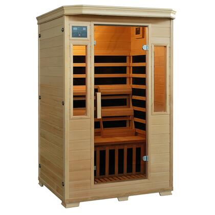SA4409 Genesis Series 2-Person Cedar Sauna W/ 6 Carbon