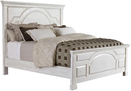 Celeste Collection 206461KE King Size Bed with Subtle Distressed Detailing  Molding Details and Sturdy Wood Construction in Vintage