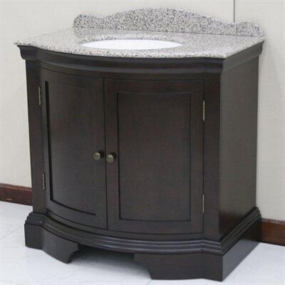 WF6830-36/DC Single Sink Wood Vanity With Granite Top and