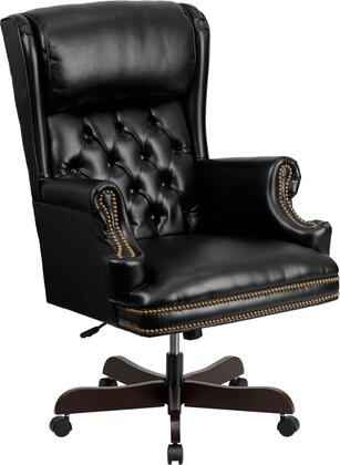 CI-J600-BK-GG High Back Traditional Tufted Black Leather Executive Office