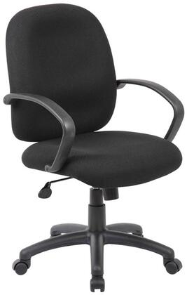 B500-BK Executive Task Chair with Black Polyurethane Fixed Arms  Seat Height Adjustment  Adjustable Tilt Tension Control  25