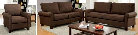 Hensel Collection CM6760BR-SLC 3-Piece Living Room Set with Stationary Sofa  Loveseat and Chair in