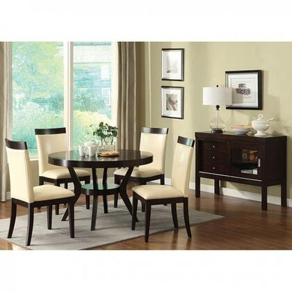 Downtown I Collection CM3423TDTSV4BS 6-Piece Dining Room Set with 48