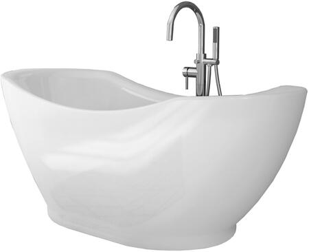 Salacia Pure Acrylic 67 inch  All-in-One Oval Freestanding Tub