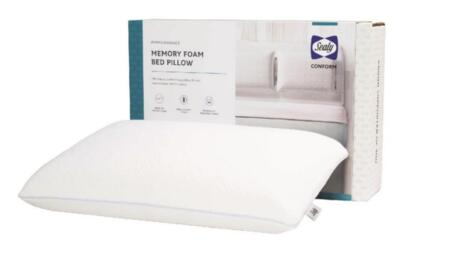 Sealy Conform Collection F01-00433-ST0/PAK4 Pack of 4 Standard Size Memory Foam Pillow with Removable and Washable Enduracase Cover in