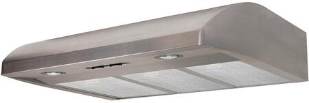 AB36SS 36 inch  Under Cabinet Range Hood with 250 CFM  Lighting  in Stainless