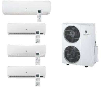 MR36TQY3JM39K118K Multi-Zone Ductless Split System for 4 Rooms  with 34 000 BTUs  Inverter Technology  4-Way Auto Swing  Heat Pump  17.5 SEER  12.5