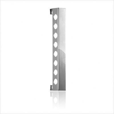 VB8PS Polished Silver Vertical Wine Rack With Multiple Finishes  Vertically Mounted  Two Sizes & In