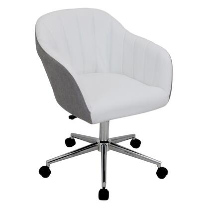 OFC-AC-SHL GYW Shelton Modern Office Chair in Grey and