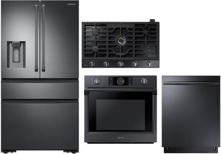 4 Piece Kitchen Appliance Package with RF23M8090SG 36
