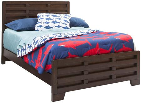 Billings 1840-46CPB Full Captain Bed with Interlocking Wood Pieces and Indonesian Hardwood Construction in Dark