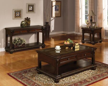 Anondale Collection 10322CES 3 PC Living Room Table Set with Coffee Table  End Table and Sofa Table in Cherry