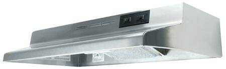 "AD1308 30"""" Under Cabinet Hood with Charcoal Filter  75W Incandescent Lighting and Rocker Switch Controls with 2 Speeds: Stainless"" 157701"