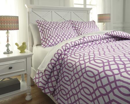 Loomis Q758021T 2-Piece Twin Size Comforter Set includes 1 Comforter and 1 Standard Sham with Geometric Design and 200 Thread Count Cotton Material in Lavender