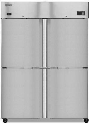 CF2B-HS Commercial Series Freezer  Reach-in  Two-Section with 4 Solid Half Doors  Digital Control  51-cu ft: Stainless