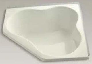 K-1155-F-96 Biscuit 54In Corner Bath