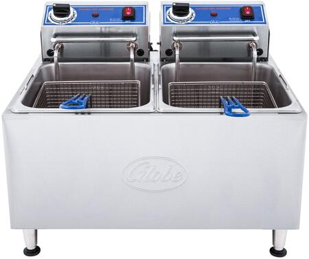 PF32E Electric Countertop Fryer with 32 lb. Oil Capacity  Nickel-Plated Baskets  and Adjustable Feet in Stainless