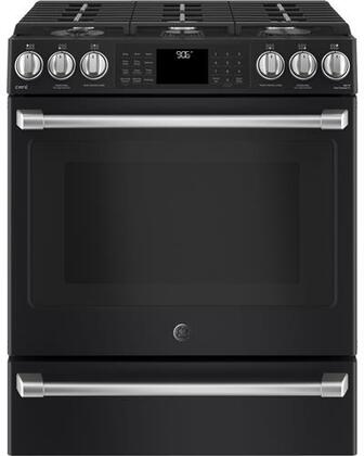 CGS986EELDS 30 inch  Slide In Front Control Gas Range with Warming Drawing  5.6 cu. ft. Capacity  21 000 BTU Multi-Ring Burner  Wi-Fi Connect  Chef Connect  and