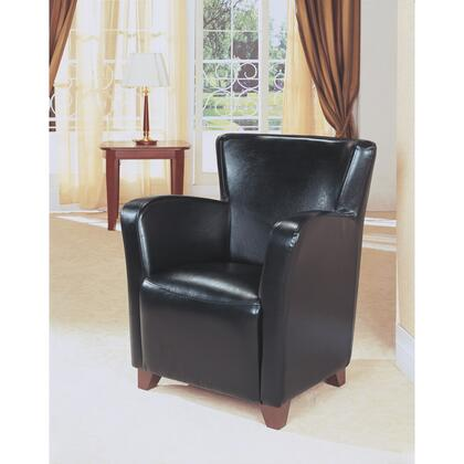 I 8067 Accent Chair - Black Leather-Look