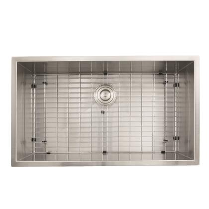 Pro Series ZR3219-16 32Large Rectangle Single Bowl Undermount Zero Radius Stainless Steel Kitchen