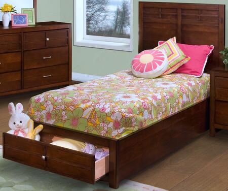 05-060-FB Kensington Full Storage Bed with Detailed Molding  Simple Pulls  Storage Drawers  and Contemporary Design  in Burnished