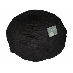 41236P Large Beanbag Black Micro Suede -