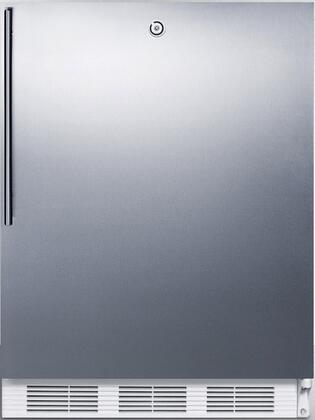 FF6LBISSHVADA 24 inch  FF6BIADA Series Medical Freestanding or Built In Compact Refrigerator with 5.5 cu. ft. Capacity  Front Door Lock  Crisper  Interior Lighting