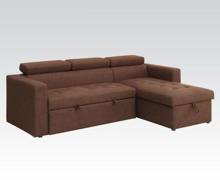 Chandan Collection 51785 Sectional Sofa with Tufted Seat  Track Arms and Linen Fabric Upholstery in