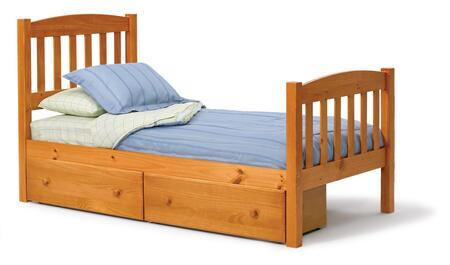 3643330-S Twin Mission Bed with Underbed Storage in