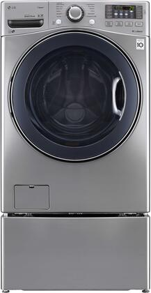 "DLEX3570V 27"""" 7.4 Cu. Ft. Ultra Capacity Front Load Steam Graphite Steel Electric Dryer with WDP4V"" 718987"