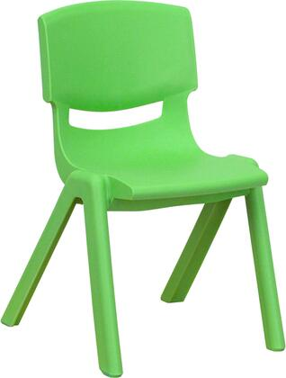 YU-YCX-001-GREEN-GG Green Plastic Stackable School Chair with 12'' Seat