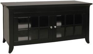 CRE48B Black Hi Boy Credenzas For 48 Inch Flat Panel