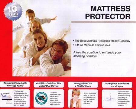 2250F Full Size Mattress Protector (Set Of 4) with Waterproof  Allergy Protection and Anti-Microbial