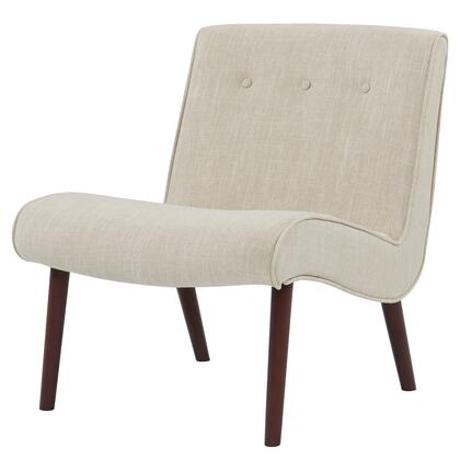 Alexis Collection 353031-F Chair with Piped Stitching  Button Tufted Detailing and Fabric Upholstery in